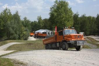 Magyar tesztpálya haszonjárművekhez