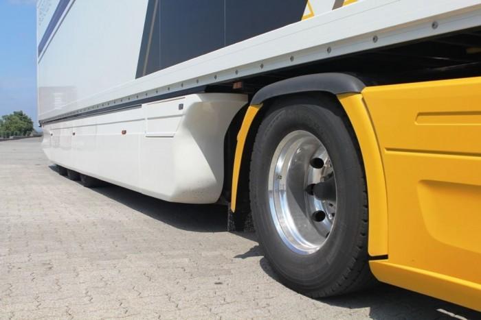 A formatervezett pótkocsi is segít az üzemanyag-megtakarításban