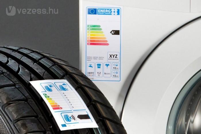 1998 óta működik a háztartási gépek energiafogyasztási besorolása. A gumiknál is beválhat