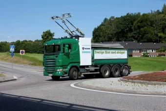 A Scania tesztelte a Siemens trolikamion rendszerét