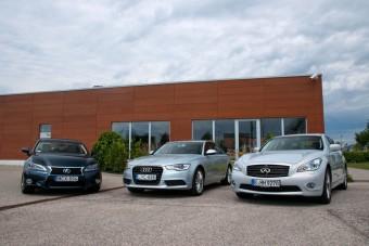 Összehasonlító teszt: Audi A6 Hybrid - Infiniti M35h - Lexus GS 450h