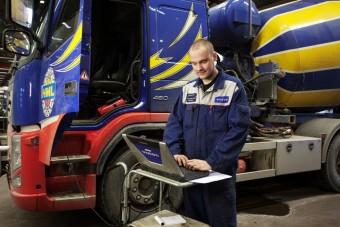 A Volvo GSM-rendszerrel csökkenti kamionjai állásidejét