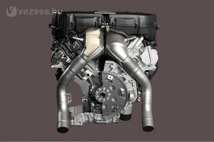 Kimagasló profitrátájuk miatt megmaradnak a V12-es és a V8-as motorok. A képen a 4,4 literes, duplaturbós V8