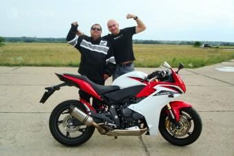 Vak motoros a Hungaroringen