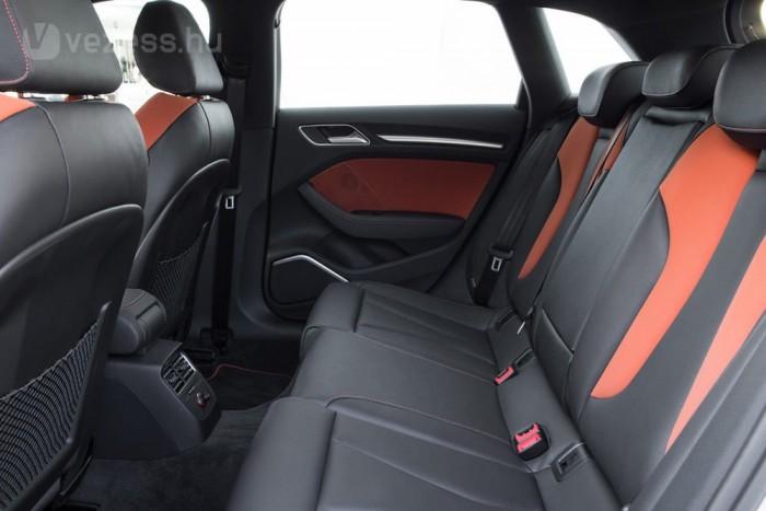 Kényelmesen tágas hátul az A3 Sportback