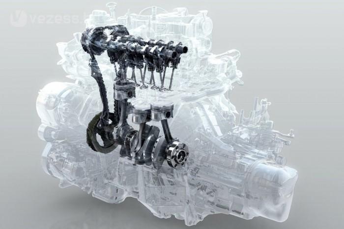 A Renault szerint ebbe a háromhengeresbe örvénylik a leggyorsabban a levegő a most kapható motorok közül, ezért a benzinpára és a levegő jól elkeveredik egymással, tökéletesebben ég el