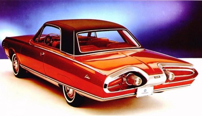 1964-es gázturbinás Chrysler. A zaj és a forró kipufogógázok miatt állt le az autóipar a szinte bármit mozgási energiává alakító, műszaki értelemben igénytelen, de kis méretben nem is gazdaságos motorok fejlesztésével