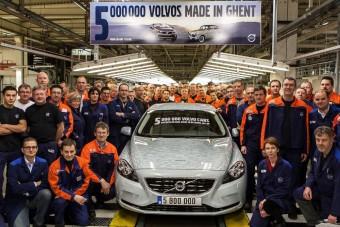 Ötmillió Volvo Gentben