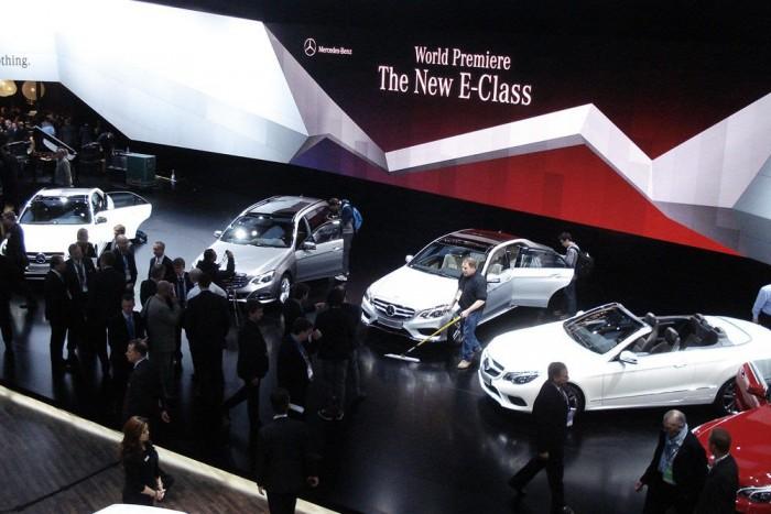 A Mercedes-Benz szokás szerint gigantikus standjának egy apró szelete