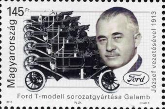 Bélyegen a Ford T magyar tervezője