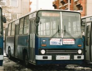 Kéményes busz a BKV-nál