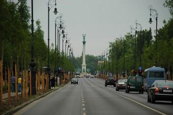 Lezárás Budapest belvárosában