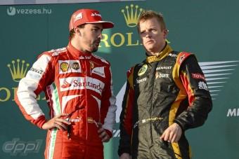 F1: Együtt ünnepel Räikkönen és Alonso