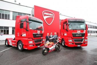 MAN kamionokkal szállít a Ducati
