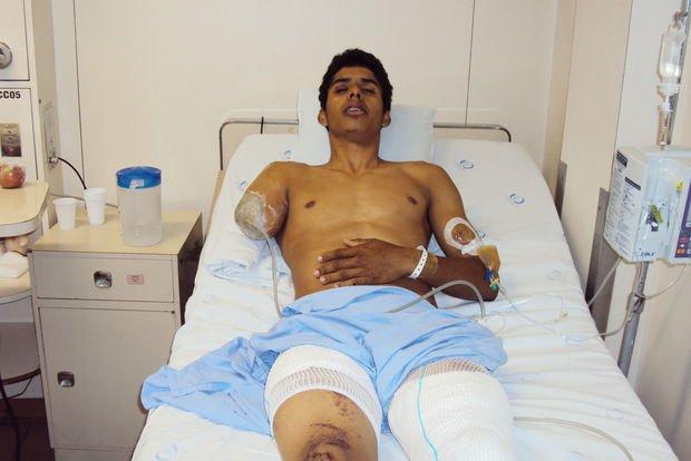 David Santos de Souza a kórházban