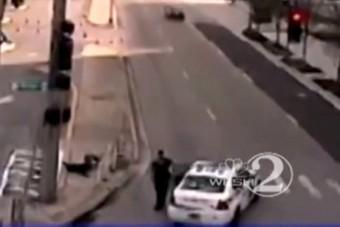 Zebrán gázolt hajléktalant a rendőr