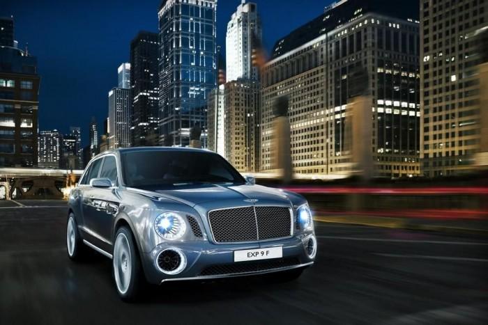 2. Bentley EXP 9 F. Szériaautóként a Bentley masztodonja új kategóriát nyit a luxusterepjárók között, a Mercedes-Benz GL és a Range Rover felett. Reméljük, nem ez a torzszülött koncepcióautó valósul meg 2016-ra