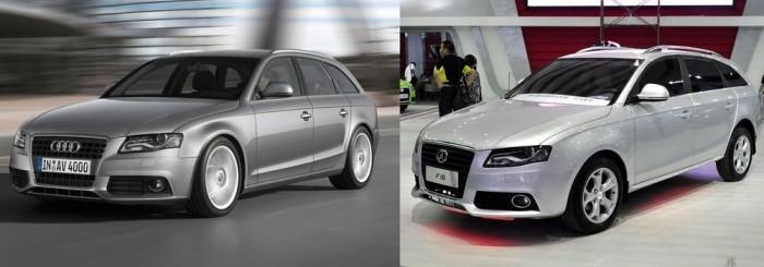 A sablonmásolók egyik kínai császára a Yema nevű cég. Több típust is klónoztak már, több különböző gyártótól. Egyik legarcátlanabb alkotásuk az Audi A4 kombit koppintó F16-os.