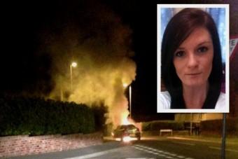 Foglyul ejtette lángoló kocsija