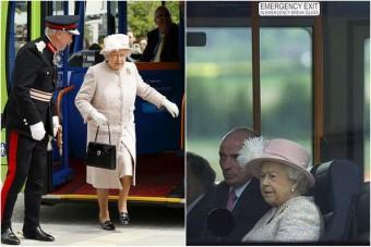 Buszra szállt, elkésett az angol királynő
