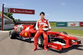 F1: Ferrarit tesztelt Kobajasi