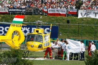 F1: A mentők motorral száguldanak a Magyar Nagydíjon