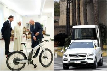 Pápa-bringát vett át Őszentsége