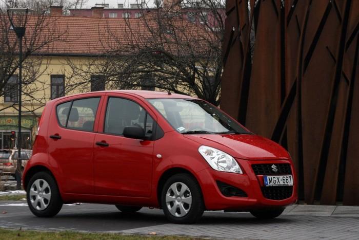 """3. Suzuki Splash 1,0 GC AC, 69 LE, 2 203 000 Ft. A tízes mezőnyből összesen két autóban van légkondicionáló alapfelszerelésként. Az egyik az egyliteres Splash. Az autót pont ebben az <a href=""""http://www.vezess.hu/teszt/teszt_legolcsobb_magyar_auto/41566"""" target=""""_blank""""><u>alapkivitelben sikerült tesztelnünk</u></a>, az első és tudomásunk szerint egyetlen autós lapként Magyarországon"""
