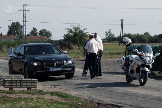 Akcióban a Fejér megyei rendőrök. A fotó egy hasonló, tavalyi ellenőrzés alkalmával készült