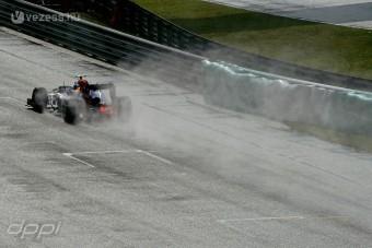 Esős versennyel folytatódhat a Forma-1