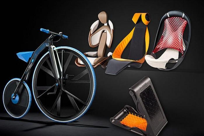 Plasztikbringa. A BASF e-kerékpárja több mint 20 különböző műanyagból áll. A működőképes, menetkész dizájntanulmány leginkább egy régi magasvázas kerékpárra hasonlít, felhívva a figyelmet arra, hogy az új anyagokkal már megalkotott termékek álmodhatók újra.