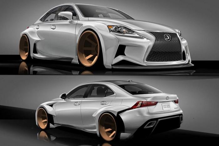 IS Design Challenge: a gyár által kiírt tuningpályázat győztes pályaműve, Robert Evans' munkája. Az autót a VIP Auto Salon építi meg, szénszálas utastere és háromrészes keréktárcsája mellett brutális karosszériaelemek jellemzik.