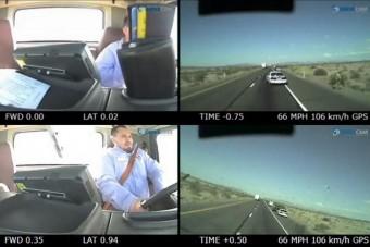 Pornót nézett, rendőrt gázolt a kamionos