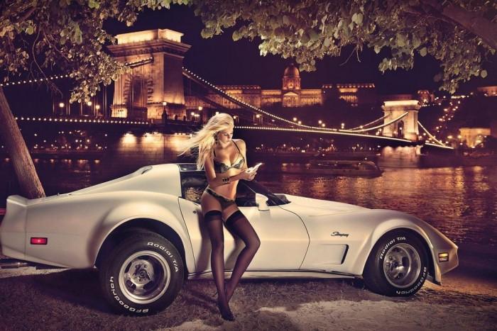 2014. borító: Lánchíd és környéke, Chevrolet Corvette