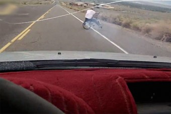 Brutális bringás borulás