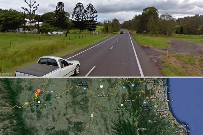 Ezen a ritkán lakott területen, kivilágítatlan útszakaszon történt a baleset