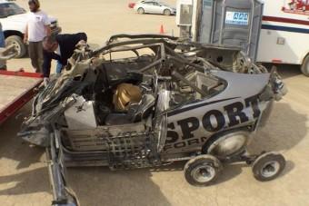 300 km/óránál tört ripityára a Honda