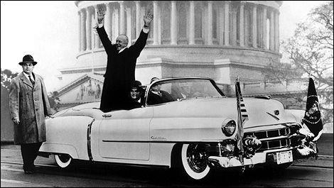 Dwight D. Eisenhower elnök 1953-as beiktatási ceremóniáján a frissen gyártott Cadillac Eldoradóban utazott.