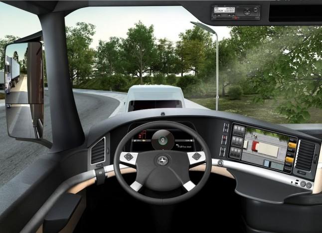 A fedélzeti képernyőn körkörös nézetet biztosít a járművek számára.