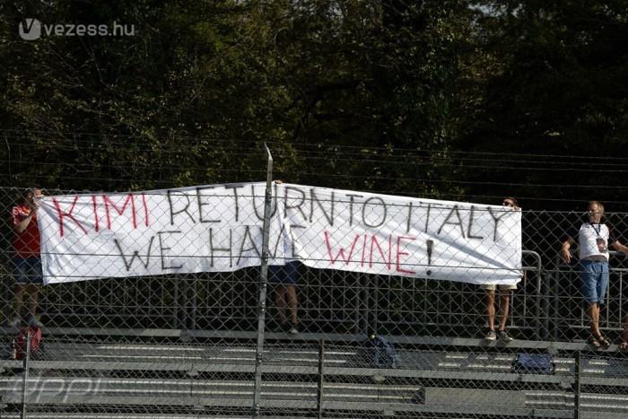 Borral várják Kimit az olasz Ferrari-szurkolók. Lehet, hogy elmarad a buli?