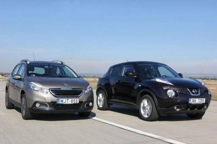 A Peugeot-é a legjobb dízelmotor a mezőnyben, de a Juke nyerte a vezetés értékelését