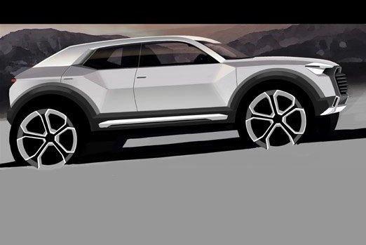 Hivatalos előzetes az Auditól. Jól érezhető a közelmúltban bemutatott Audi terepkupé-tanulmány, a Nanuk hatása