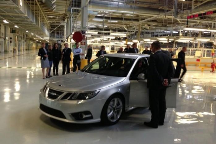 Az újjáéledt Saab egyik előszériás példánya