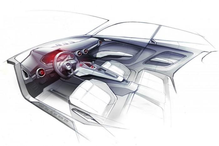 A beltér nagyon emlékeztet a Sport Quattro Conceptére