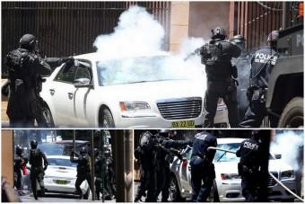 Így szedik ki autójából a terroristát a rendőrök