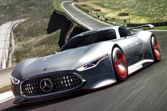 Képzelt Mercedes virtuális versenyre