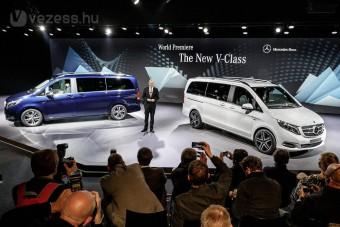 Új Mercedes V-osztály: luxus 8 személynek