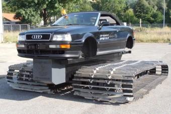 Ez a lánctalpas Audi már felkészült a legpokolibb télre