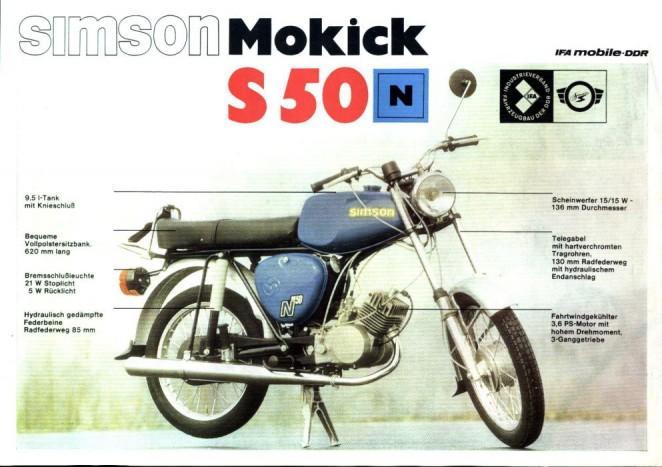 Simson S50/S51 - A fél ország ezeken a motorokon gurult a nyolcvanas években. Legnagyobb számban az S51B 1-4 típusú példány készült, ebből 360 600 db gördült le a gyártósorról 1980 és 1989 között. Mindenki ismeri, tökéletes belépő a motorozás , és a bütykölés világába. Egyszerű felépítése, és az évtizedek során felhalmozódó tudásanyag kitűnő, olcsó tuning alannyá teszi, még napjainkban is.