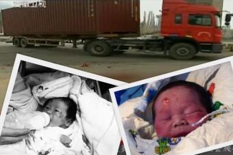 A gázolás pillanatában szülte meg gyermekét